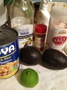 Avocado hummus ing
