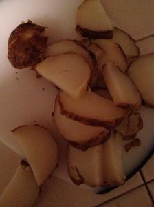 Sliced poatatoes